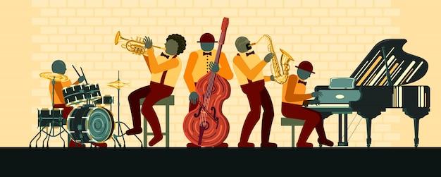 Cartel en el día del jazz 30 de abril.
