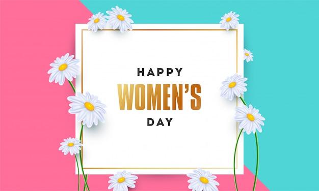 Cartel del día de la mujer feliz