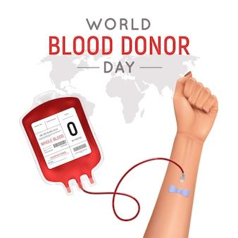 Cartel del día mundial del donante de sangre.