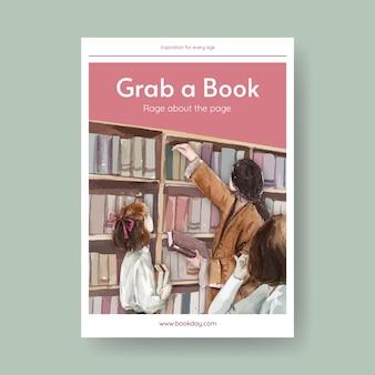Cartel del día mundial del libro