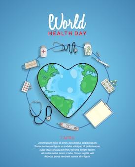 Cartel del día mundial de la salud.
