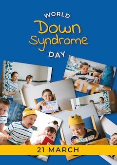 Cartel del día mundial del síndrome de down