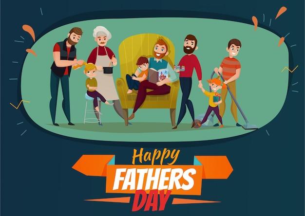 Cartel del día del padre