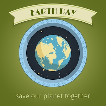 Cartel del día de la tierra