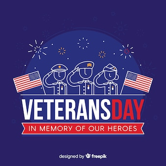 Cartel del día del veterano