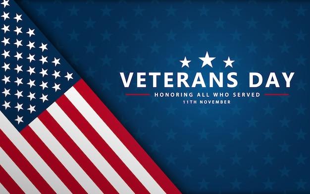 Cartel del día de los veteranos