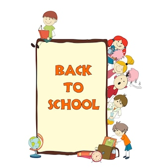 Cartel de dibujo de escuela infantil