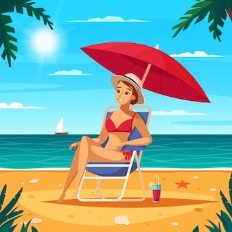 Cartel de dibujos animados de agencia de viajes