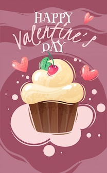 Cartel de dibujos animados del día de san valentín