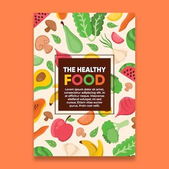 El cartel de la dieta de alimentos saludables