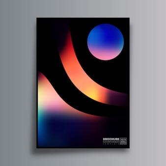 Cartel de diseño abstracto con coloridas formas de degradado para volante