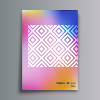 Cartel de diseño abstracto con rombo y textura degradada para volante
