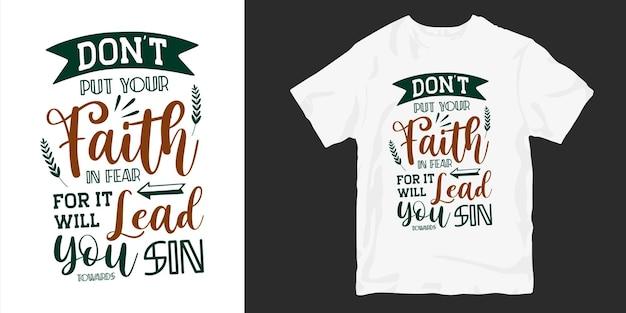 Cartel de diseño de camiseta de tipografía de citas cristianas y religiosas.