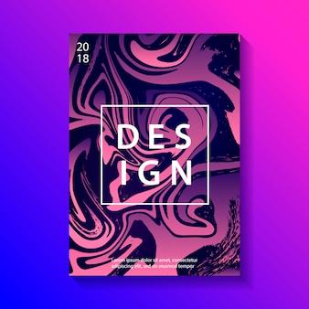 Cartel de diseño creativo con marmoleado.