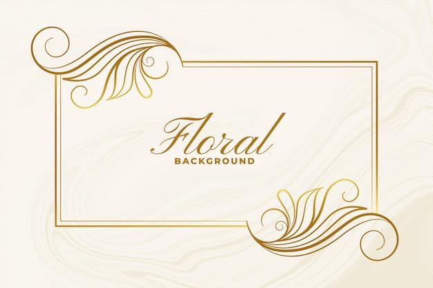 Cartel de diseño decorativo de marco floral ornamental.