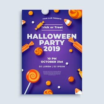 Cartel de diseño de fiesta de halloween o plantilla de volante.