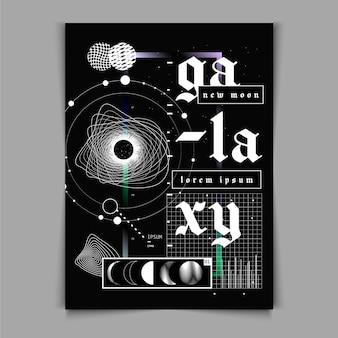Cartel de diseño plano y2k