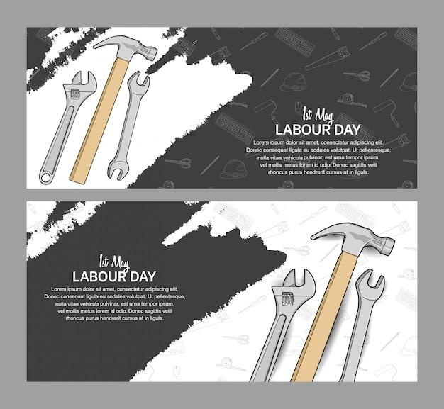 Cartel del diseño del vector del día del trabajo