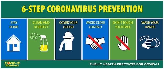 El cartel de distanciamiento social o prácticas de salud pública para covid19 o protocolos de seguridad y salud