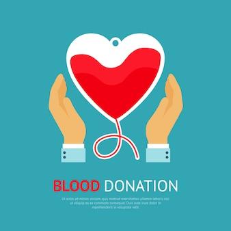 Cartel de la donación de sangre
