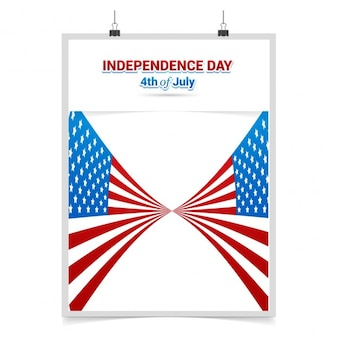Cartel de ee.uu. día de la independencia