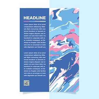 Cartel de efecto fluido colorido plantilla