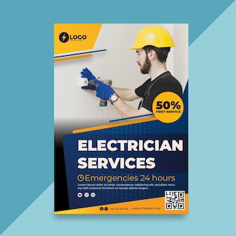 Cartel de electricista