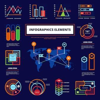 Cartel de elementos infográficos