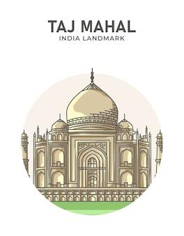 Cartel emblemático de taj mahal india