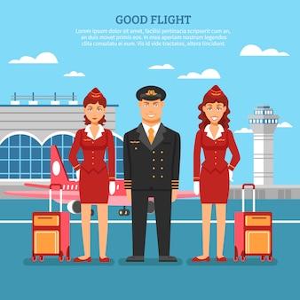 Cartel de empleados del aeropuerto