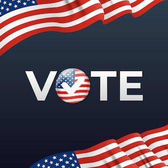 Cartel de la empresa electoral de estados unidos. ilustración vectorial eps10