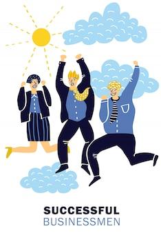 Cartel de empresarios exitosos