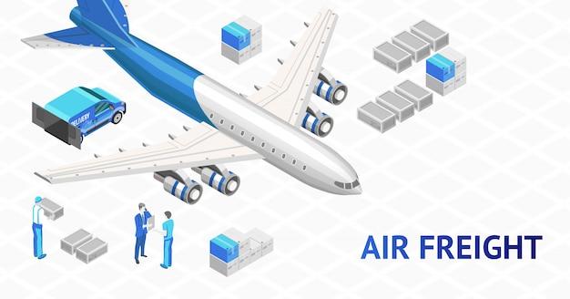 Cartel de entrega de carga aérea