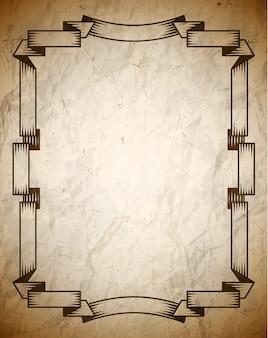 Cartel envejecido con marco vintage