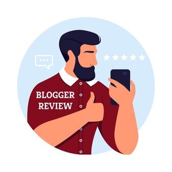 Cartel escrito blogger review best burbershop.