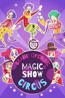 Cartel de espectáculo de circo