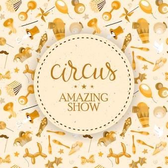 Cartel de espectáculo de circo.