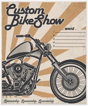 Cartel de espectáculo de motos personalizado