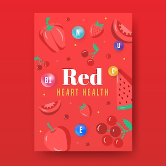 Cartel estilo comida sana