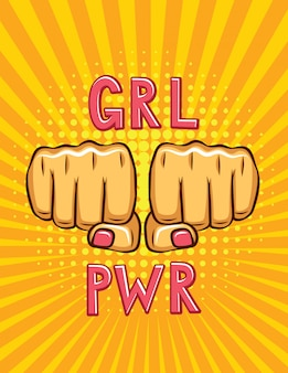 Cartel de estilo pop art girl power