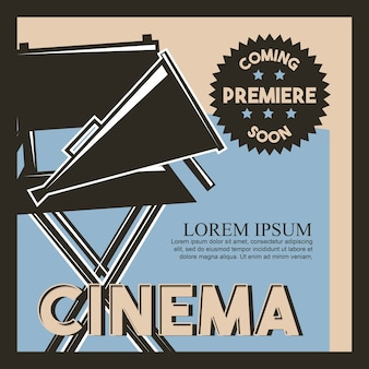 Cartel de estreno de cine