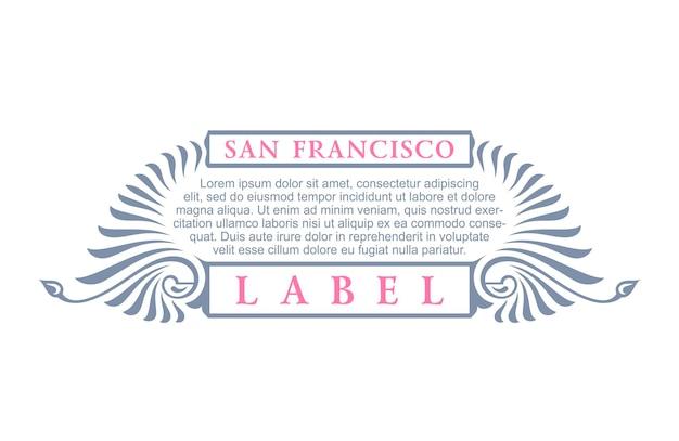 Cartel de etiqueta vintage hipster