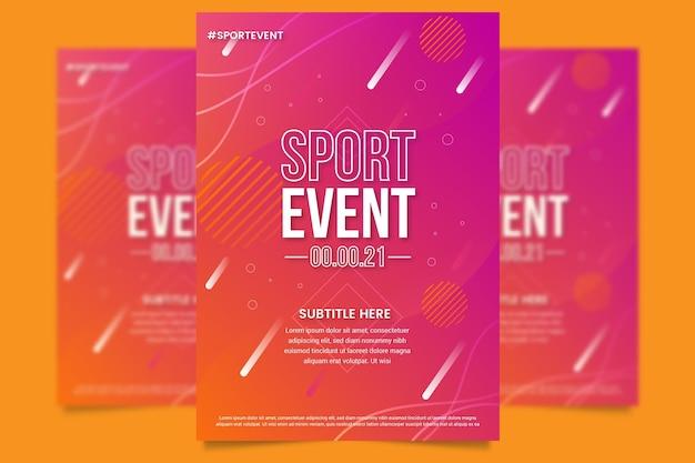 Cartel del evento deportivo para 2021