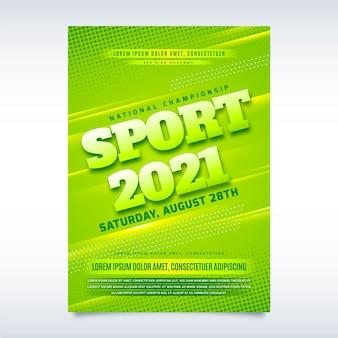 Cartel del evento deportivo 2021