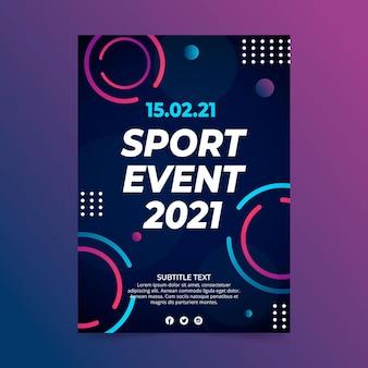 Cartel de evento deportivo