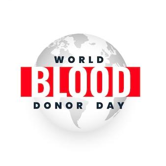 Cartel del evento internacional de concienciación del día mundial del donante
