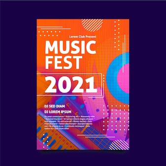 Cartel del evento musical 2021 con foto