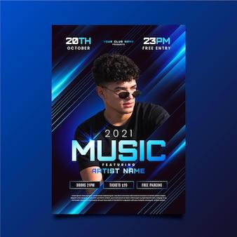 Cartel del evento musical 2021 con foto