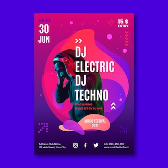 Cartel del evento musical para 2021