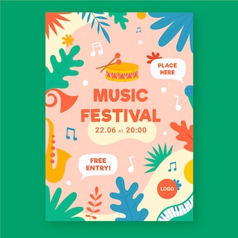 Cartel de evento musical ilustrado